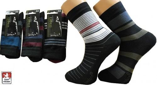 Ponožky PONDY.CZ pánské elastické PRUHY 39-47 dd7a28fa91