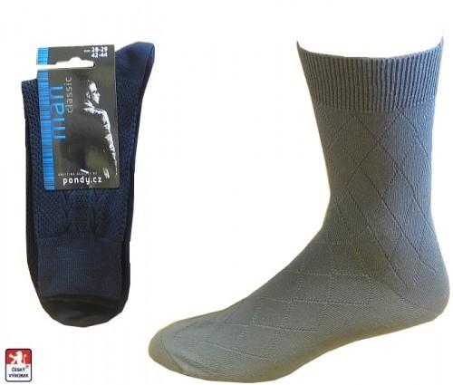 Pánské klasické ponožky PONDY.CZ LUX 48-49 c2528f86d4